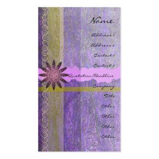 Lavender Giftwrap Vertical Profile Card Business Card