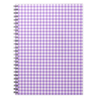 Lavender Gingham Notebook