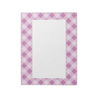 Lavender Gingham Notepad