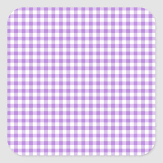 Lavender Gingham Square Sticker