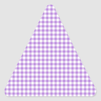 Lavender Gingham Triangle Sticker