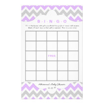 Lavender girl Bingo purse baby shower TWO GAME SET Flyer