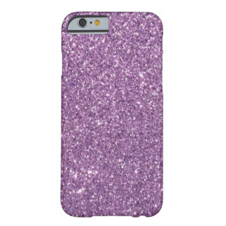 Lavender Glitter Barely There iPhone 6 Case