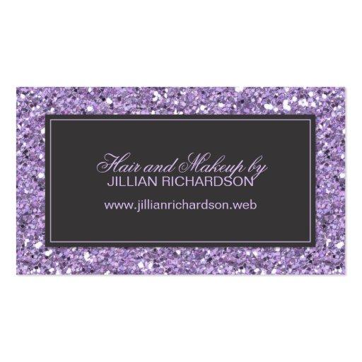 Lavender Glitter Look Business Card