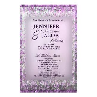 Lavender Glitter Wedding Program