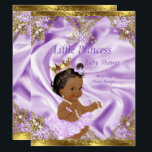 "Lavender Gold Princess Baby Shower Ethnic Girl Invitation<br><div class=""desc"">Princess Baby Shower Regal Royal Lavender Lilac Purple Gold Princess. Elegant Girl Ballerina Tutu Princess Baby Shower. Gold Crown and White Pearl Silver Tiara. Gold frame. Ethnic African American Baby Shower. All Designs are Copyrighted! Content and Designs &#169; 2000-2016 Zizzago™ &#174; &#169; (Trademark) and its licensors Zizzago created this design...</div>"