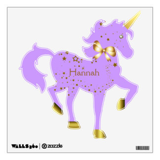 Lavender u0026 Gold Starlite Unicorn Wall Decal