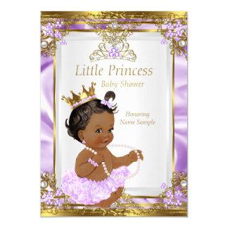 Lavender Gold White Princess Baby Shower Ethnic Card