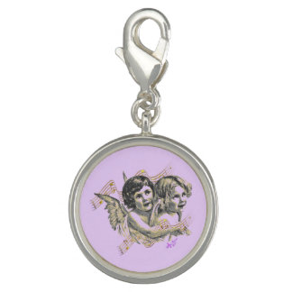 Lavender Golden Angels Silver Charm