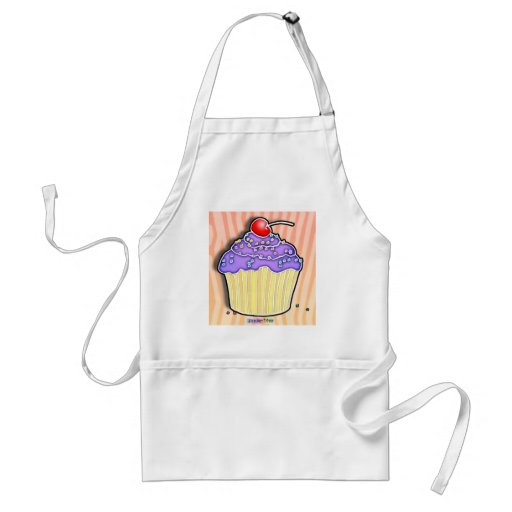 Lavender Grape Frosted CUPCAKE APRON