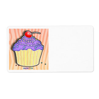 Lavender Grape Frosted CUPCAKE AVERY LABEL