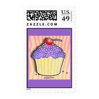 Lavender Grape Frosted CUPCAKE POSTAGE
