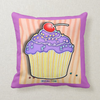 Lavender Grape Frosted CUPCAKE THROW PILLOW