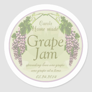 lavender grapes canning labels 1 round stickers