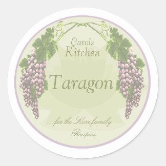 lavender grapes spice jar labels stickers