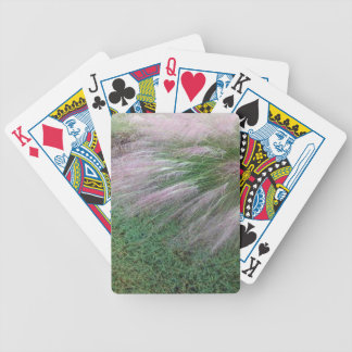 Lavender Grass Bicycle Playing Cards