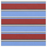 [ Thumbnail: Lavender, Gray, Cornflower Blue, Dark Red & Black Fabric ]