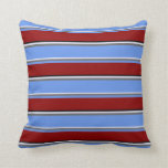 [ Thumbnail: Lavender, Gray, Cornflower Blue, Dark Red & Black Throw Pillow ]