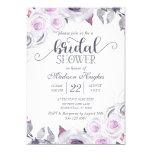 Lavender & Gray Floral Bridal Shower Invitation
