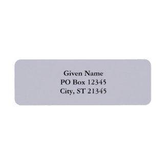 Lavender Gray Custom Return Address Labels