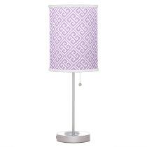 Lavender Greek Key Pattern Desk Lamp
