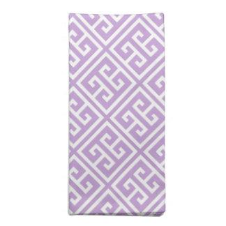 Lavender Greek Key Pattern Napkin
