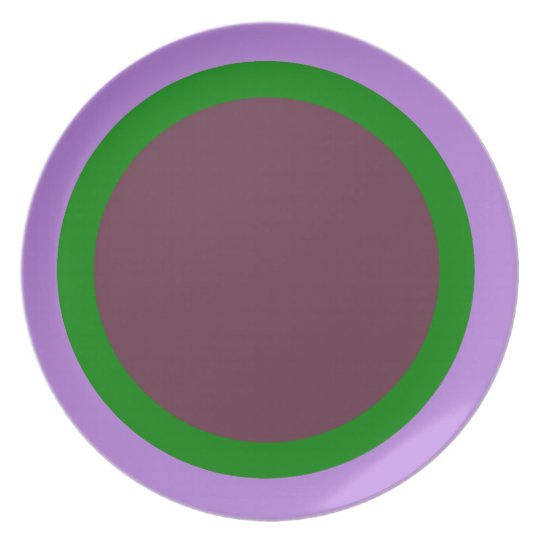 Lavender Green and Eggplant Plate