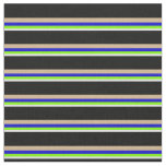 [ Thumbnail: Lavender, Green, Blue, Tan & Black Pattern Fabric ]