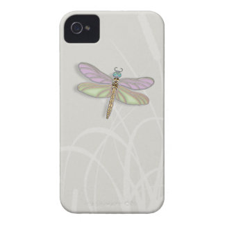 Lavender & Green Dragonfly iPhone 4 Case-Mate Case