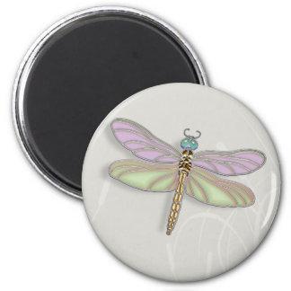 Lavender & Green Dragonfly Magnet