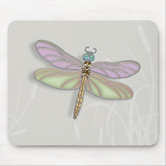 Lavender & Green Dragonfly Mouse Pad