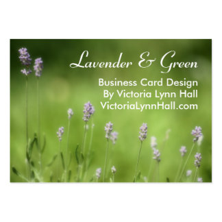 Lavender & Green Floral Photography Large Business Cards (Pack Of 100)