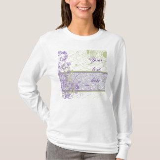 Lavender & Green Floral Swirls T-Shirt
