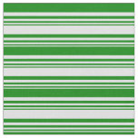 [ Thumbnail: Lavender & Green Lined Pattern Fabric ]