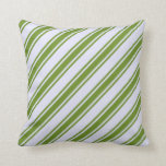 [ Thumbnail: Lavender & Green Lines Throw Pillow ]