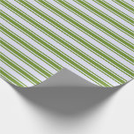 [ Thumbnail: Lavender & Green Lines Wrapping Paper ]