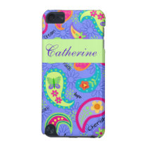 Lavender Green Modern Paisley Graphic Pattern iPod Touch 5G Cover