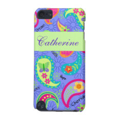 Lavender Green Modern Paisley Graphic Pattern Ipod Touch 5g Cover at Zazzle