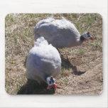 Lavender Guinea Fowls Mouse Pad