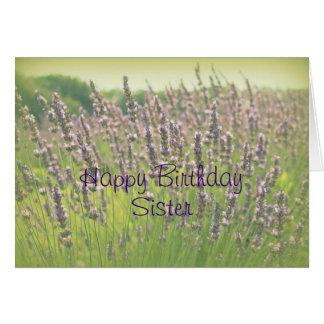 Lavender Happy Birthday Sister Card