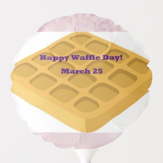 Lavender Happy Waffle Day! Balloon Lavender Back