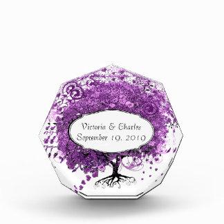 Lavender Heart Leaf Tree Wedding Award