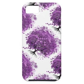 Lavender Heart Leaf Tree Wedding iPhone 5 Case