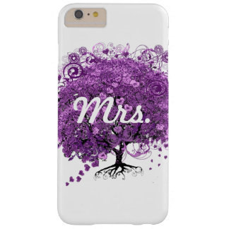 Lavender Heart Leaf Tree Wedding Barely There iPhone 6 Plus Case