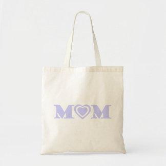 Lavender Heart Mom Tote Bag