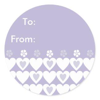 Lavender Heart Sticker - Custom Gift Tags sticker