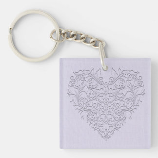 Lavender HeartyChic Acrylic Key Chains