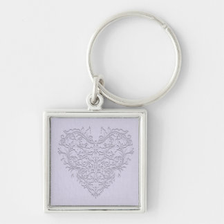 Lavender HeartyChic Key Chains