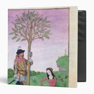 Lavender, Hellebore, & relative of Cucumber Vinyl Binder