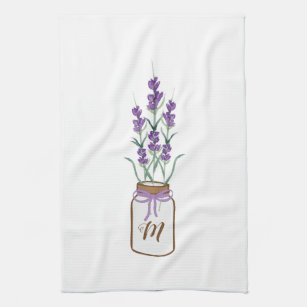 Rustic Kitchen Lavender Tea Towel French Lavender decor Kitchen Tea Towel Farmhouse decor Modern Kitchen decor Kitchen Towel